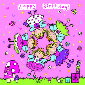 Children's Birthday Card Spinner - Princess